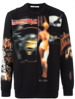 Givenchy heavy metal print sweatshirt