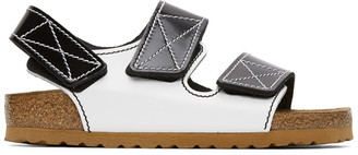 Proenza Schouler Black and White Birkenstock Edition Milano Sandals