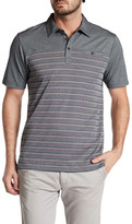 Travis Mathew Cutback Striped Polo Shirt