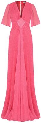 Libelula Long Jessie Dress Salmon Organic Print