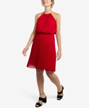 MSK Petite Pleated A-Line Dress