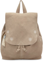 Toms Taupe Suede Embroidered Poet Backpack