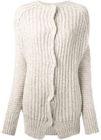 Humanoid ribbed cardigan