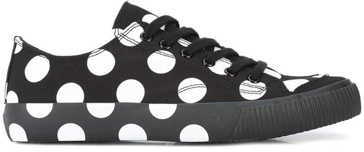 Y's polka dot lace-up sneakers