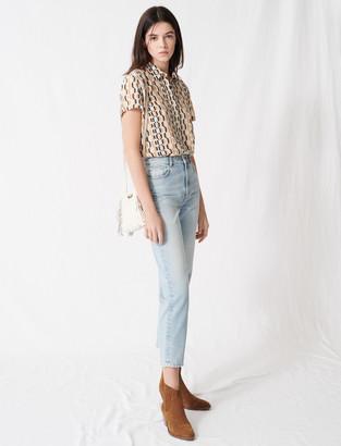Maje Mom-style high-waisted jeans