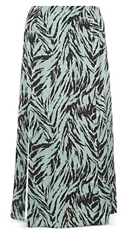 WAYF Altamont Printed Midi Skirt