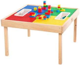 Lego Reversable and Duplo Wood Play Table With 2 Storage Bins