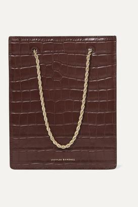 Loeffler Randall Antoinette Croc-effect Leather Tote - Chocolate