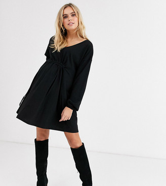Asos DESIGN Maternity long sleeve smock dress with drawstring waist