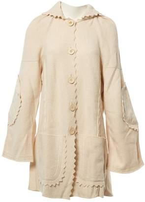 Christian Dior Ecru Wool Coats