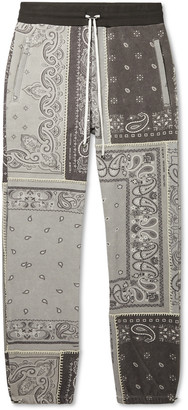 Amiri Tapered Bandana-Print Cotton-Jersey Drawstring Sweatpants