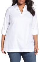 Foxcroft Plus Size Women's Nora Non-Iron Cotton Tunic