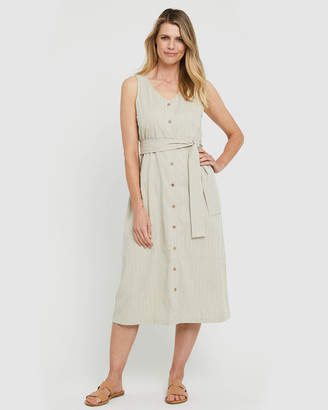 Bamboo Body - Women's Neutrals Midi Dresses - Button Front Dress - Size One Size, XS at The Iconic