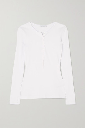 Ninety Percent + Net Sustain Ribbed Organic Cotton-blend Jersey Top - White