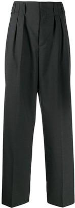 MAISON KITSUNÉ High Waisted Pleated Trousers