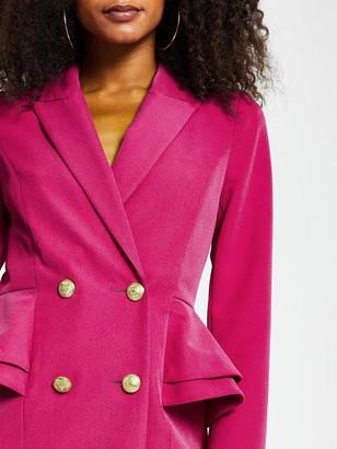 River Island Peplum Blazer Dress - Pink