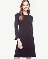 Ann Taylor Petite Fluted Sweater Dress