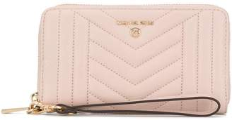 MICHAEL Michael Kors quilted-effect zip-around wallet
