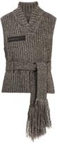 Craig Green Tie-waist ribbed-bouclé vest