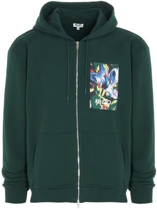 Kenzo X Vans Tulipes Print Zipped Hooded Sweatshirt