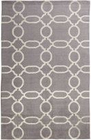 "Horchow Gray Links Runner, 2'6"" x 10'"
