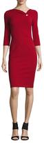 Escada Danina 3/4 Sleeve Sheath Dress