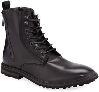 Robert Wayne Men's Thatcher Rugged Side-Zip Leather Boots