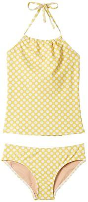 Toobydoo Dot Sunshine Tankini (Infant/Toddler/Little Kids/Big Kids) (Yellow) Girl's Swimwear Sets