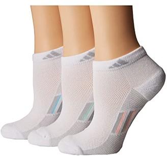 adidas Climacool(r) Superlite Stripe Low Cut Socks 3-Pack (White/Clear Grey/Light Flash Orange/Frozen Green/Icey Blue) Women's Low Cut Socks Shoes
