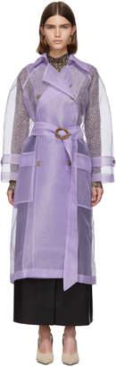 Nanushka Purple Organza Tuscan Trench Coat