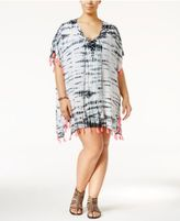 Raviya Plus Size Tie-Dyed Tasseled Cover-Up