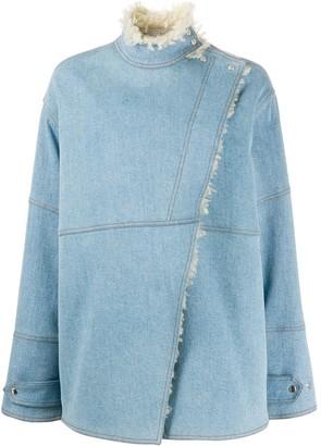 Stella McCartney Olive shearling lined denim jacket