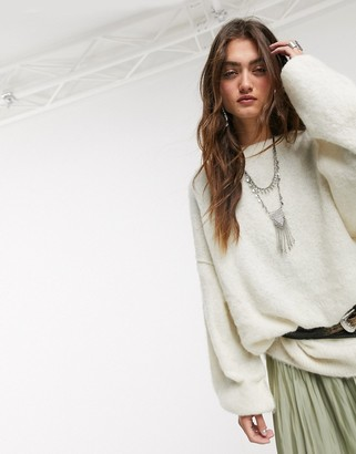 Free People angelic pullover in white