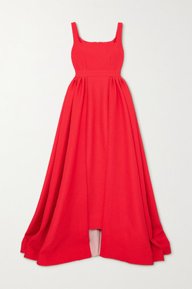 Emilia Wickstead Seaton Draped Cloque Gown - Red