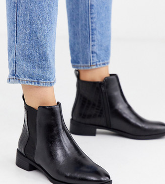 Simply Be extra wide fit Imogen Chelsea boot in black