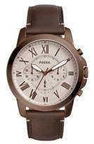 Fossil Grant Chronograph Leather Strap Watch