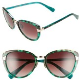 Oscar de la Renta Women's '219' 55Mm Cat Eye Sunglasses - Turquoise Tortoise
