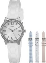 GUESS GUESS? Women's U0784L1 Feminine Interchangeable Wardrobe Watch Set