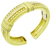 Judith Ripka 18K Yellow Gold Diamond Beaded Cuff Bracelet
