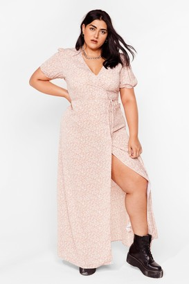 Nasty Gal Womens Floral You've Done Plus Maxi Dress - Pink - 16, Pink