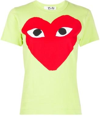 Comme des Garcons heart print round neck T-shirt