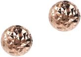 Italian Silver 10mm Round Diamond-Cut Bead Earrings, Sterling