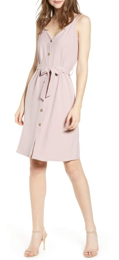 Bishop + Young Belted Button Dress