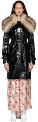 Paco Rabanne Black Patent Coat