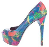 Brian Atwood Bambola Embossed Pumps