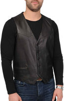 JCPenney Excelled Leather Excelled Lambskin Leather Vest-Big & Tall