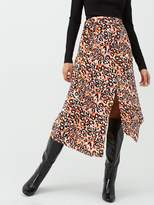 Very Leopard Asymmetric Co-ord Skirt - Print