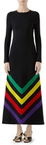 Gucci Intarsia Stripe Long Sleeve Sweater Dress