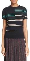 Apiece Apart Women's Short Sleeve Stripe Crewneck Sweater