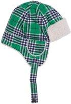 Kapital K Plaid Flannel Hat With Sherpa' (Tod/Kid) - Ninja Turtle Plaid - Medium